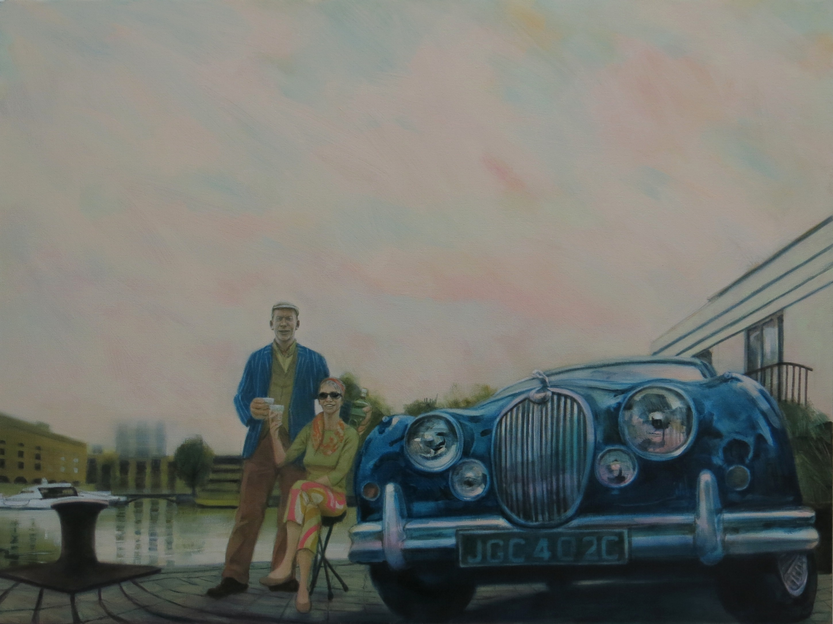 Gin and Jag. Oil on Linen.