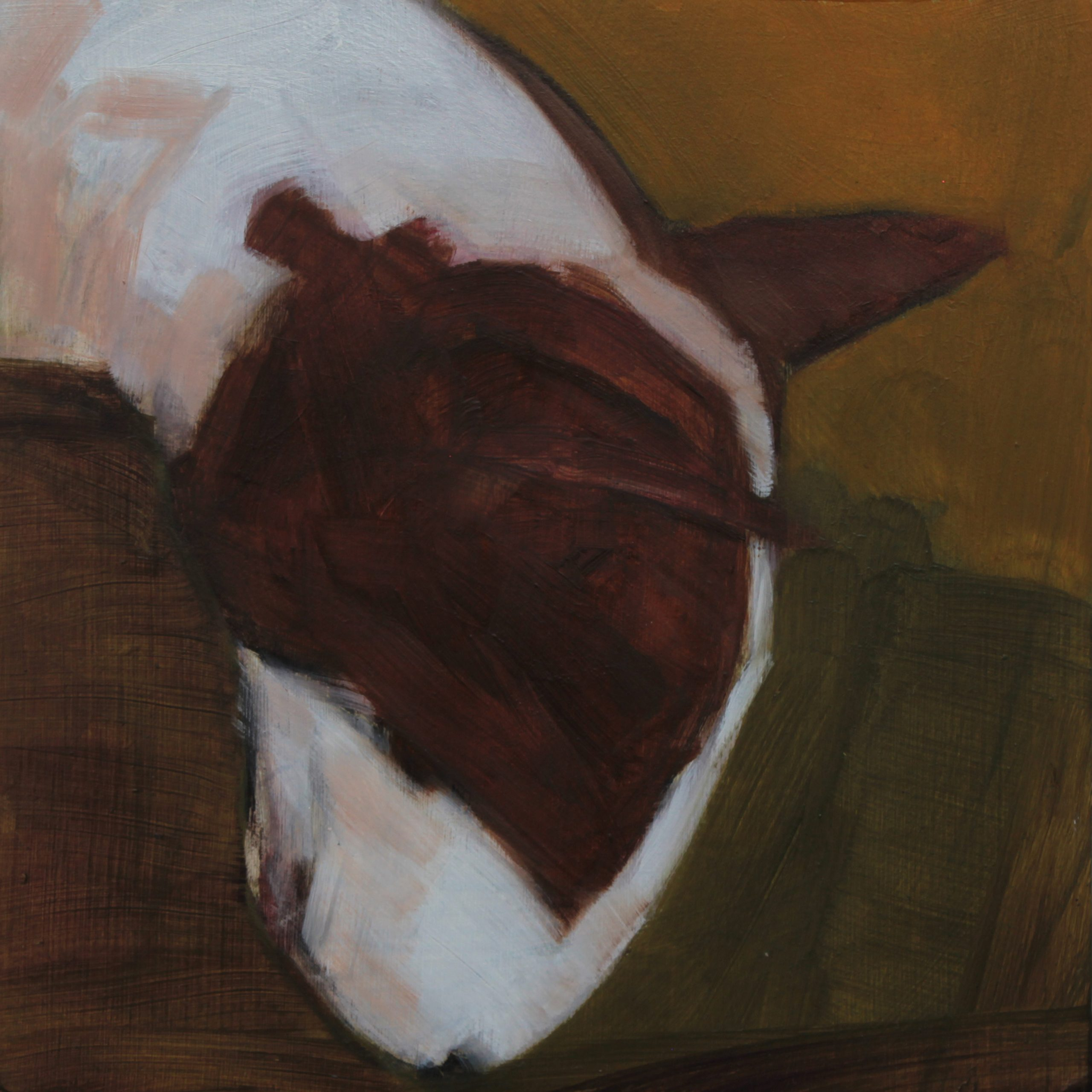 """Hoovered 6x6"""" Oil on Board"""