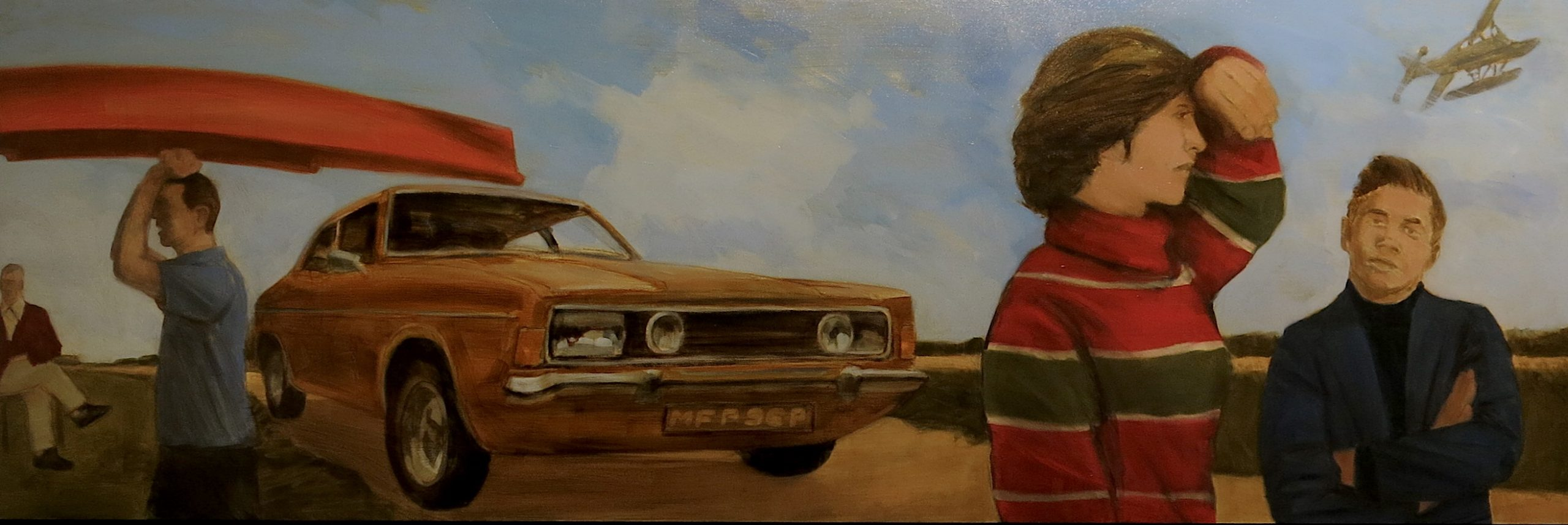 """Funny What Love Can Do 16x42""""Oil on Board"""